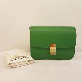 AUTHENTIC Celine Box In Smooth Green