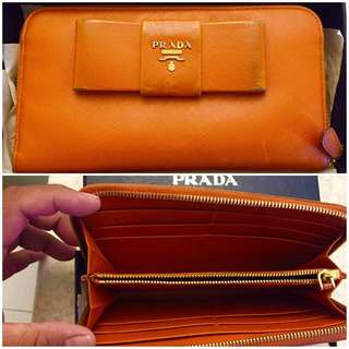 Authentic Prada Saffiano Leather Butterfly Wallet