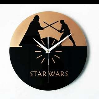 Star wars星際大戰黑武士時鐘/掛鐘