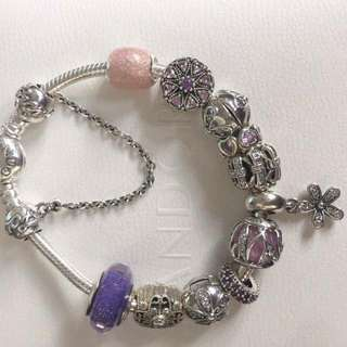 All About Purples And Pinks Pandora Bracelet