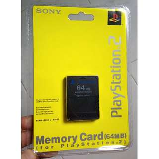 PS2 Original 64MB Memory Card SONY Release Playstation BRAND NEW