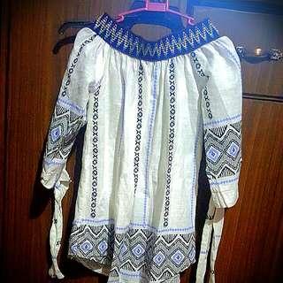 boho offshoulder blouse