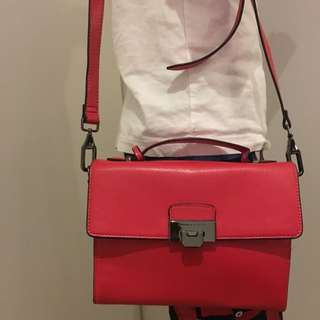 Charles & Keith Cross Body Bag ( Red )