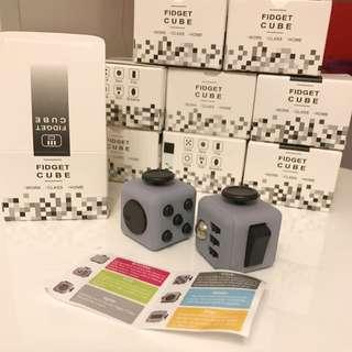 Black/Grey Fidget Cube Kids Adults Restless