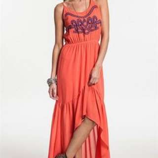 Umgee Coral Hi Lo Dress