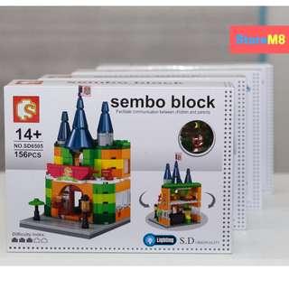 SEMBO lego like building BLOCKS - SHIP I CASTLE I PET SHOP