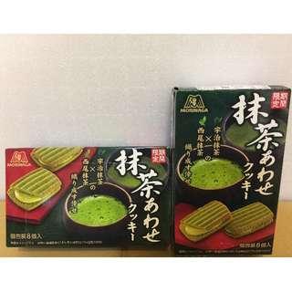 日本原裝 森永新品 期間限定 西尾抹茶x宇治抹茶交織成的幸福 抹茶夾心餅