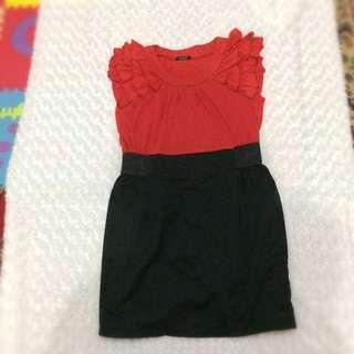 REPRICE Dress Red & Black