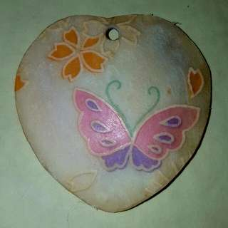 Painted Shell Butterfly Flower Necklace