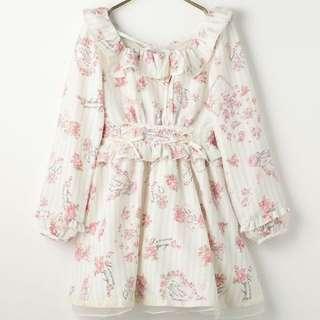 日本品牌 Liz Lisa 夢幻花朵蝴蝶結洋裝