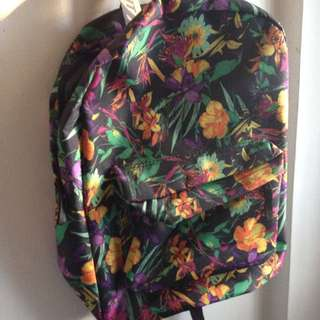 Black Floral Summit Bag
