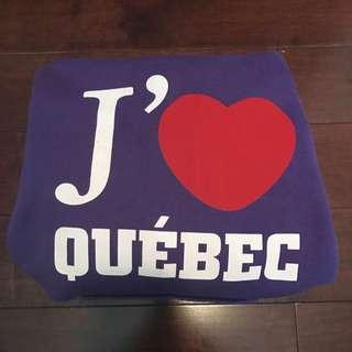 Authentic J'aime Quebec Hoodie Size M
