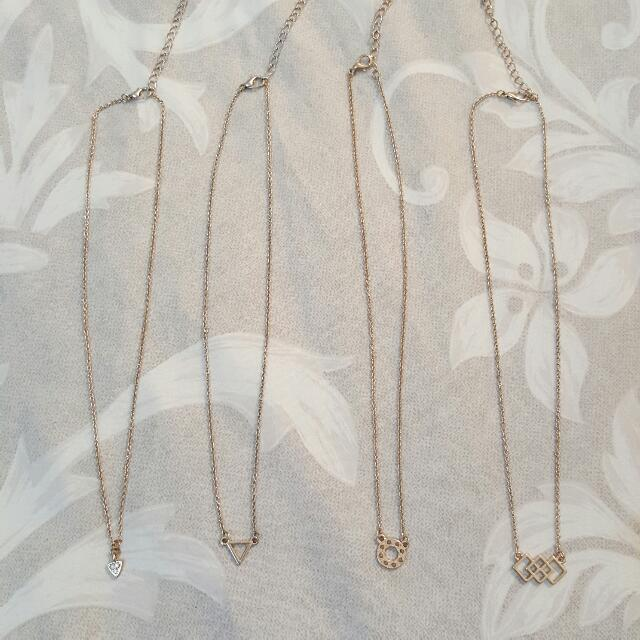4 Pack Necklaces