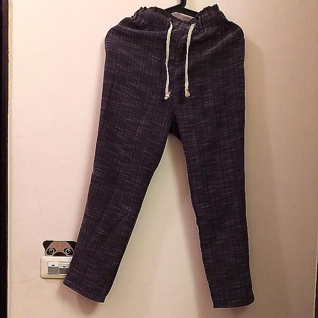 鐵灰色休閒褲
