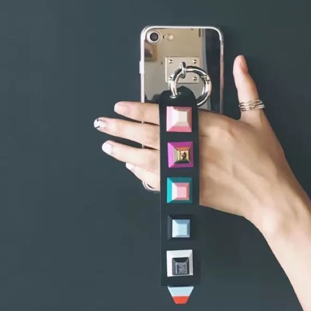 鏡面彩色幾何手機殼