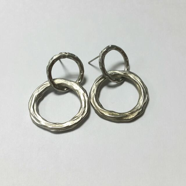 金屬感雙圈耳環 個性款
