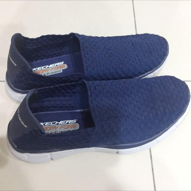 近全新 Skechers 編織 休閒 男鞋