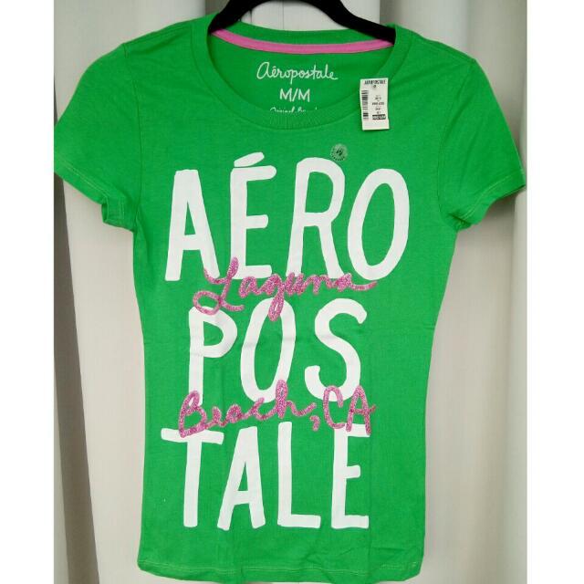 AeropostaleEmbellished/Embossed/GlitterTee Green