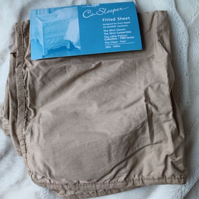 NEW! Arm's Reach Mini Co-Sleeper Fitted Sheet - Toffee