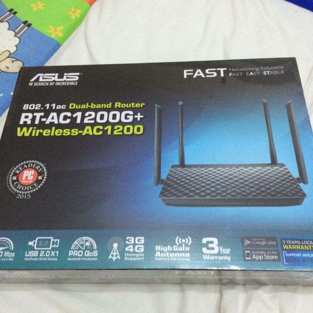Asus RT-AC1200G+ Wireless-AC1200 Router
