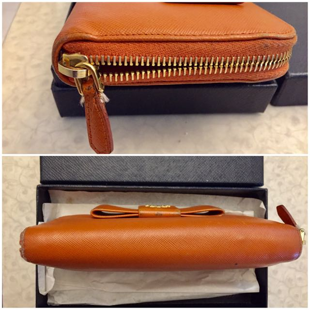 7e39f6eb8519f2 Authentic Prada Saffiano Leather Butterfly Wallet, Luxury, Bags & Wallets  on Carousell