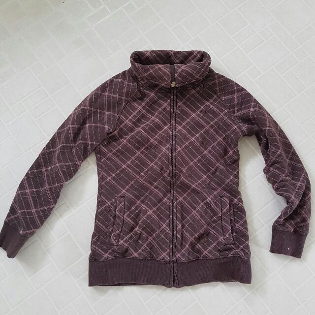 Authentic Tommy Hilfiger Brown Plaid Sweater Size M