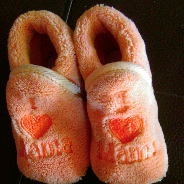冬季Baby學步鞋  粉橘色