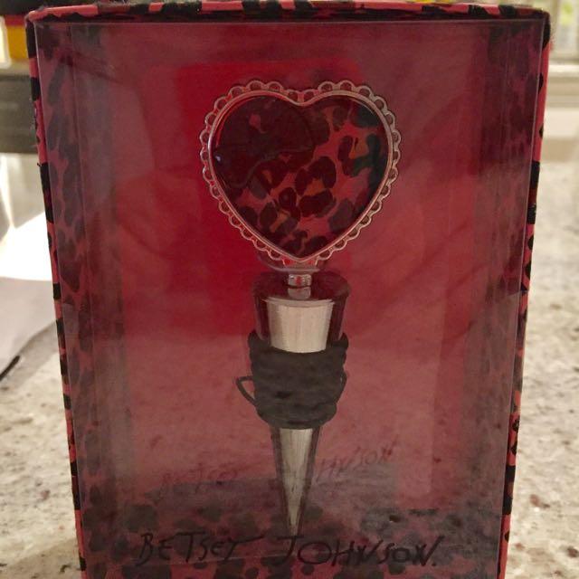Betsey Johnson Wine Bottle Stopper.