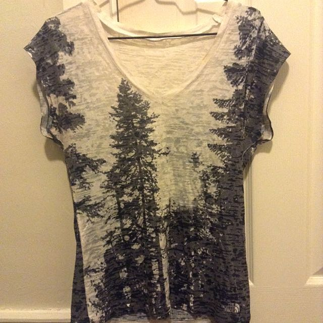 Black and White Distressed Forrest Tshirt