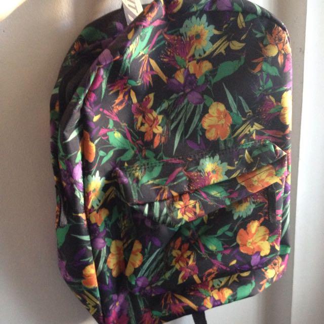 Black Floral Summit Bag