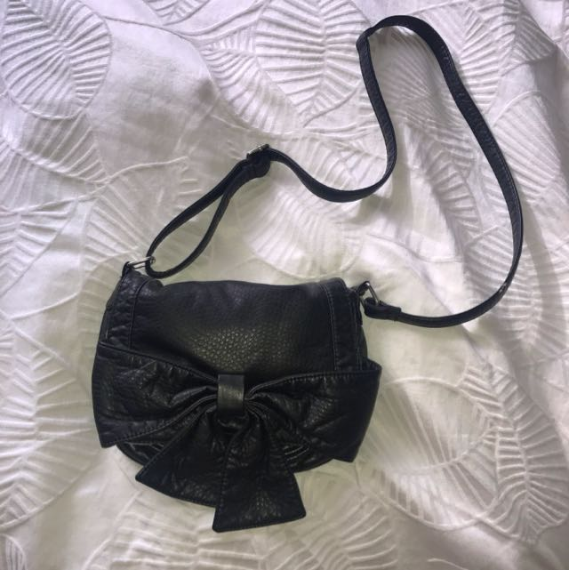 Black Bow Handbag