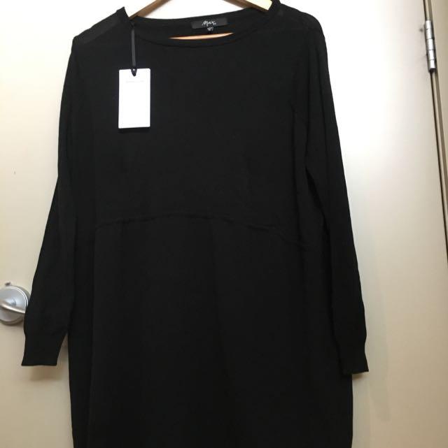 Black Jersey Style Dress
