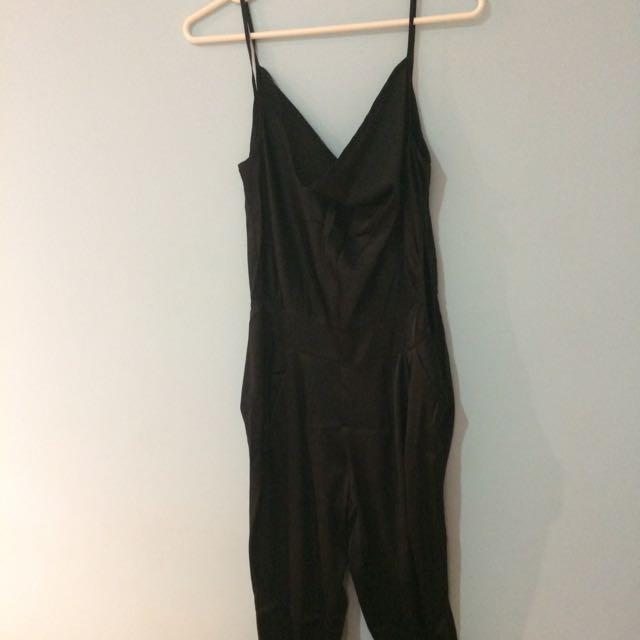 Black Silky Jumpsuit
