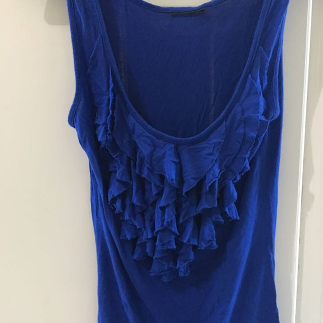 Blue Ruffled Top