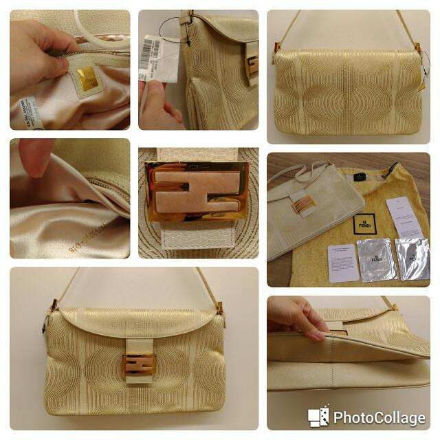 5ad3a0a90c75 Brand New Authentic FENDI Golden Wheel Coral Buckle Bag (With ...