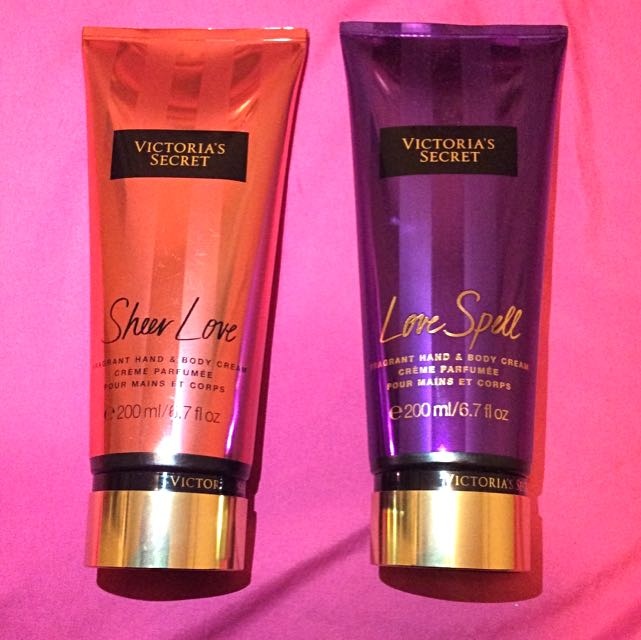BRAND NEW VICTORIA SECRET BODY LOTIONS IN SHEER LOVE AND LOVE SPELL