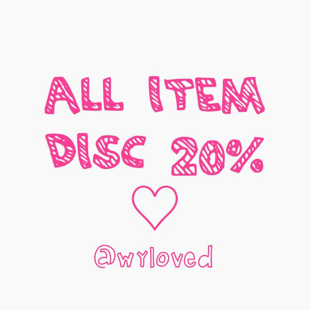 DISCOUNT 20% ALL ITEM