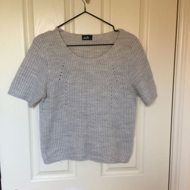 Dotti Grey Wool Top