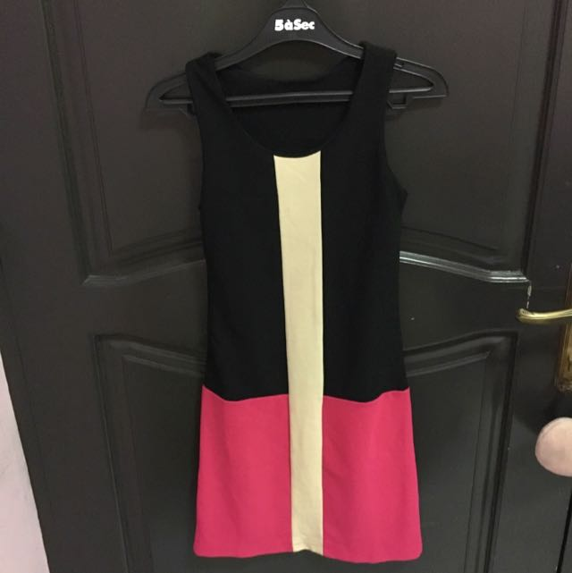 Dress Black & Pink Stripe