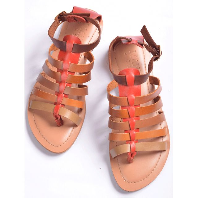 EXCLUSIVE SALE! Genuine Leather Gladiator Sandals Red