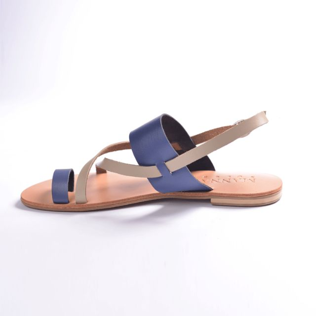 EXCLUSIVE SALE! Genuine Leather Sandals Blue
