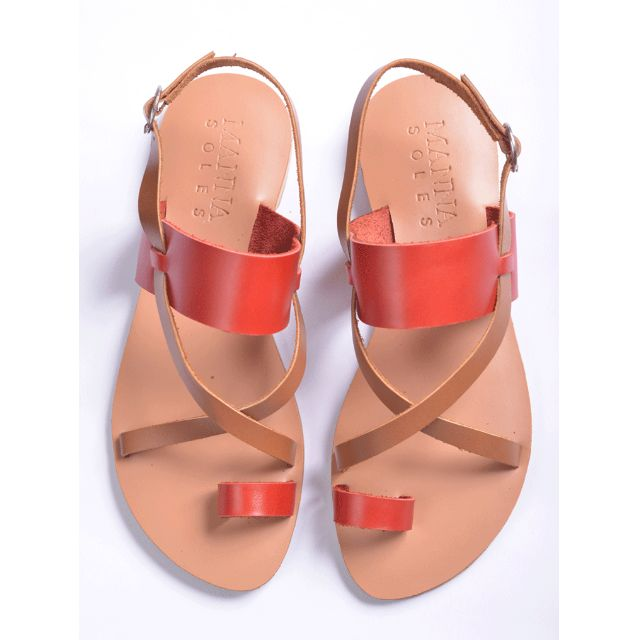 EXCLUSIVE SALE! Genuine Leather Sandals Red
