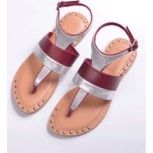 EXCLUSIVE SALE! Genuine Leather Sandals Rose & Silver