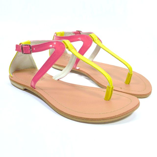 EXCLUSIVE SALE! Pink&Yellow Sandals