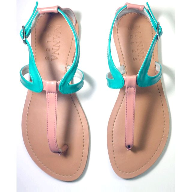 EXCLUSIVE SALE! Torquoise&Peach Sandals