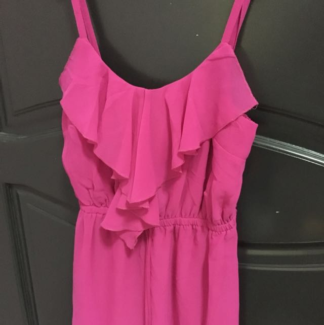 F21 Fuschia Dress