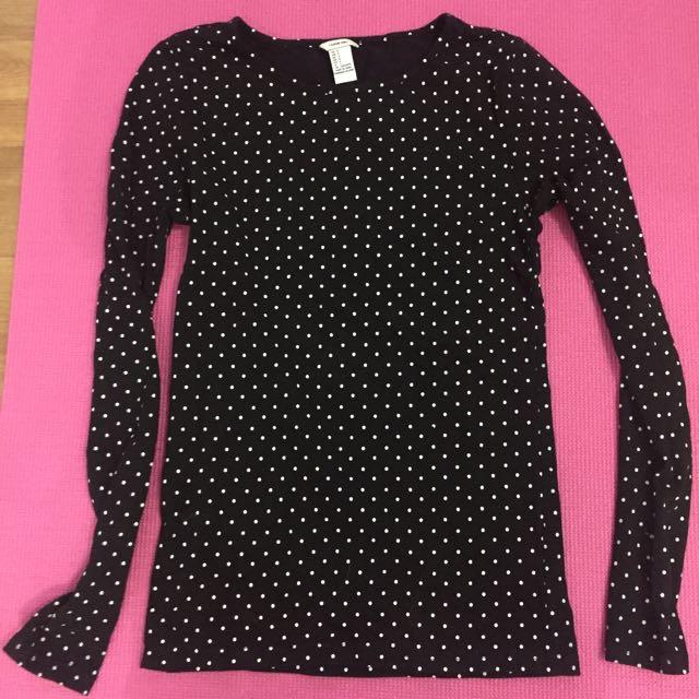 Forever21 Long Sleeves Shirt (Black)