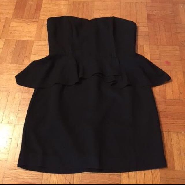 Forever 21 Black Peplum Cocktail Dress