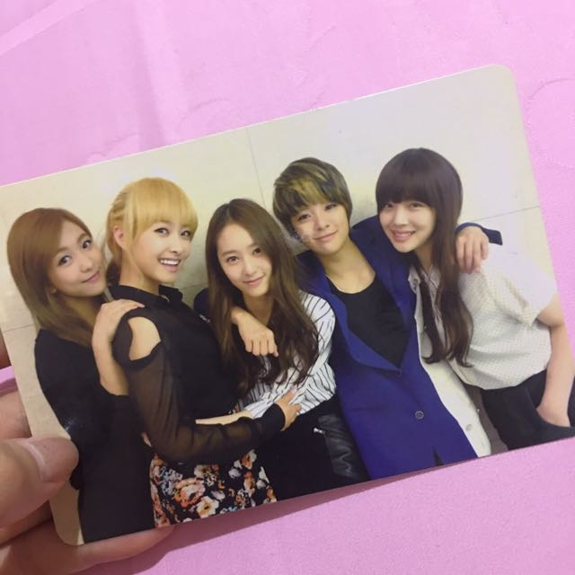 f(x) electric shock group photocard