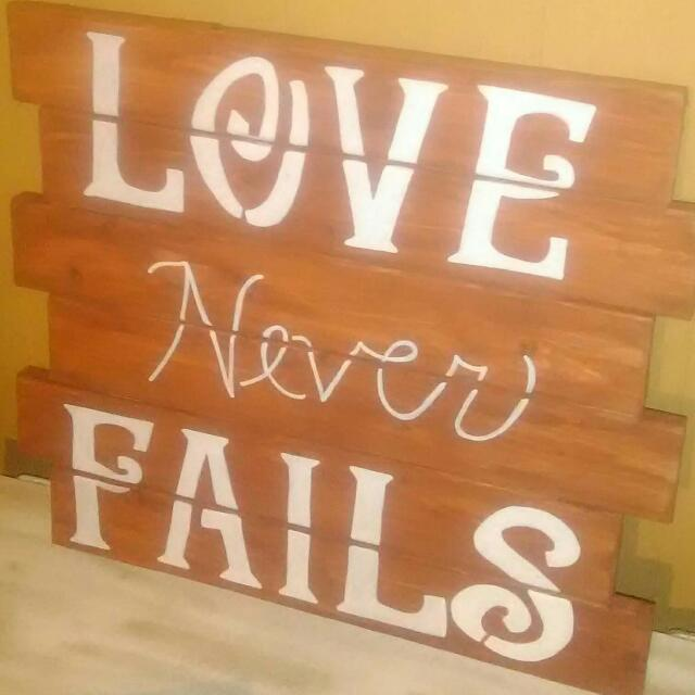 Handmade Wood Quote Sign